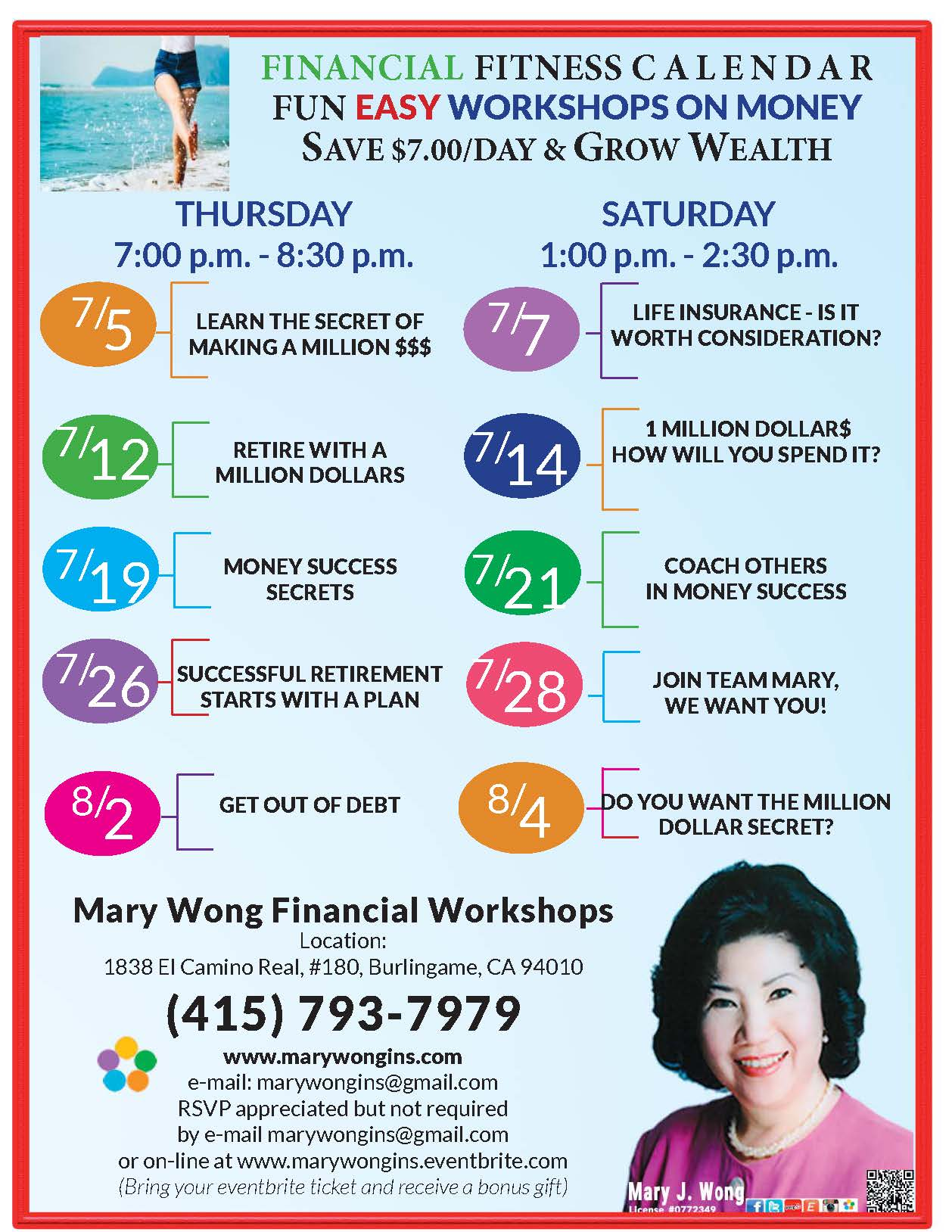 Find, Create, Grow and Keep Your Wealth with knowledge and education offered by Mary Wong Insurance and Financial Services