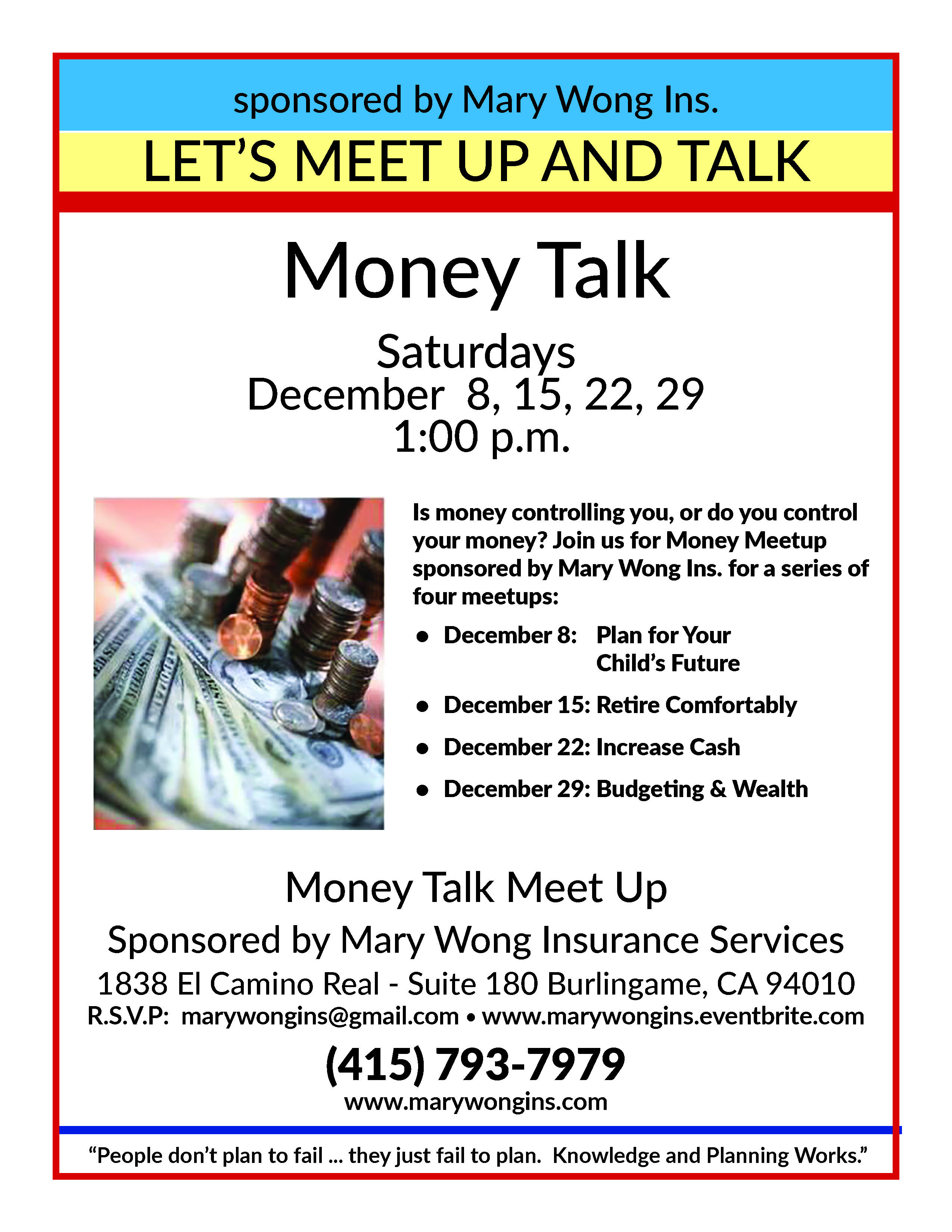 Saving Money - Burlingame Focused Money Talk Meetup