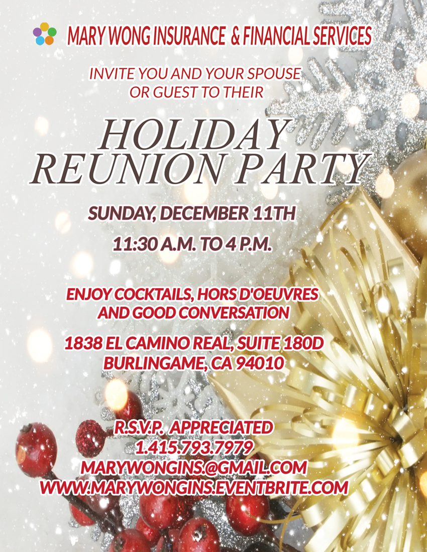 Mary Wong Ins. Holiday Reunion Party